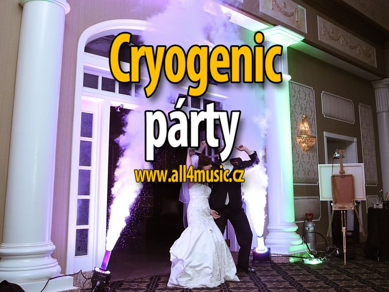 Cryogenic párty (CO2 Jets and guns) stage a klub